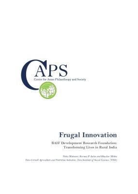 Frugal Innovation