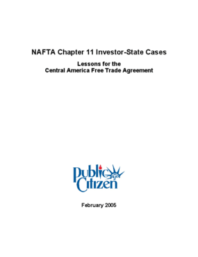 NAFTA Chapter 11 Investor-State Cases: Lessons for the Central America Free Trade Agreement